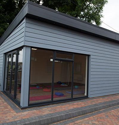 Composite decking conservatories upvc windows and doors for Upvc garden room